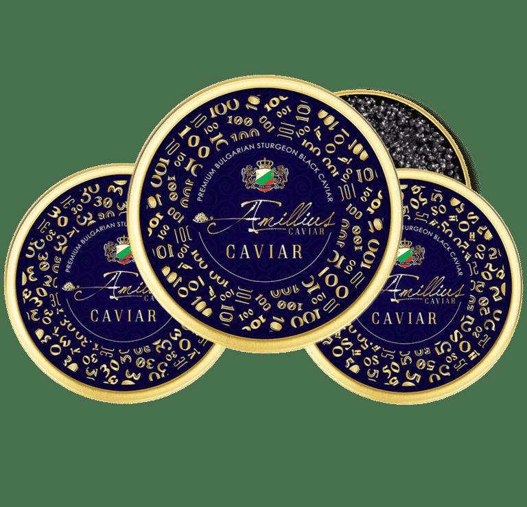 Luxury black caviar label design by creative agency AdwayCreative