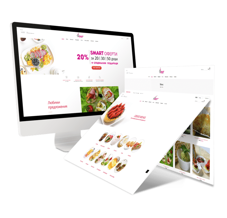 Smart Catering e commerce website design by graphic design and advertising agency AdwayCreative