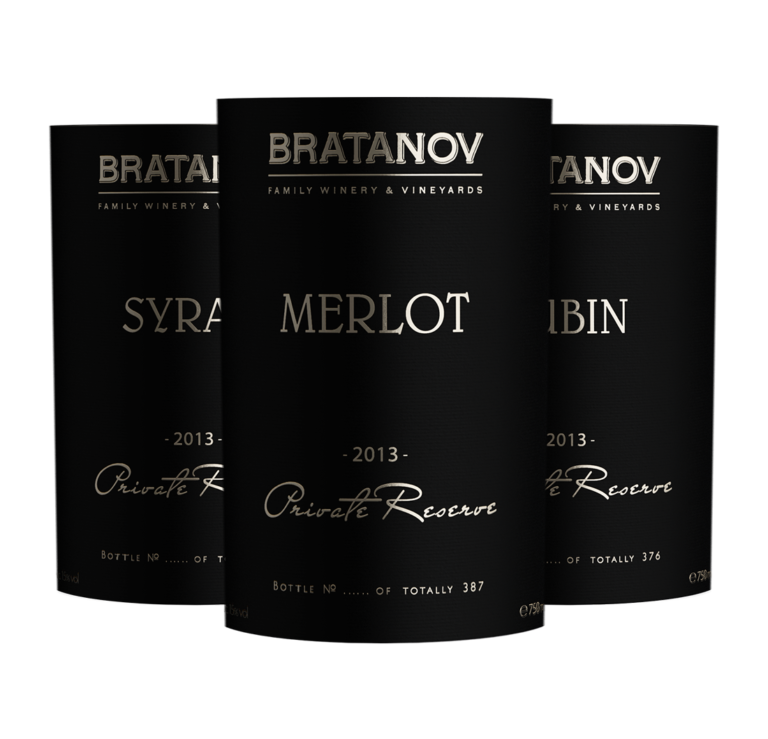 Wine labels design Bratanov Private Reserve by creative marketing & branding agency AdwayCreative