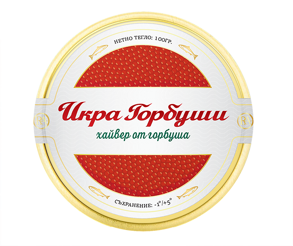 red caviar label design