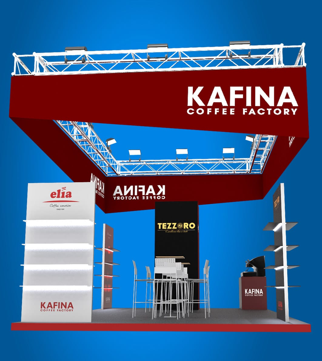 Kafina Expo Stand design by AdwayCreative