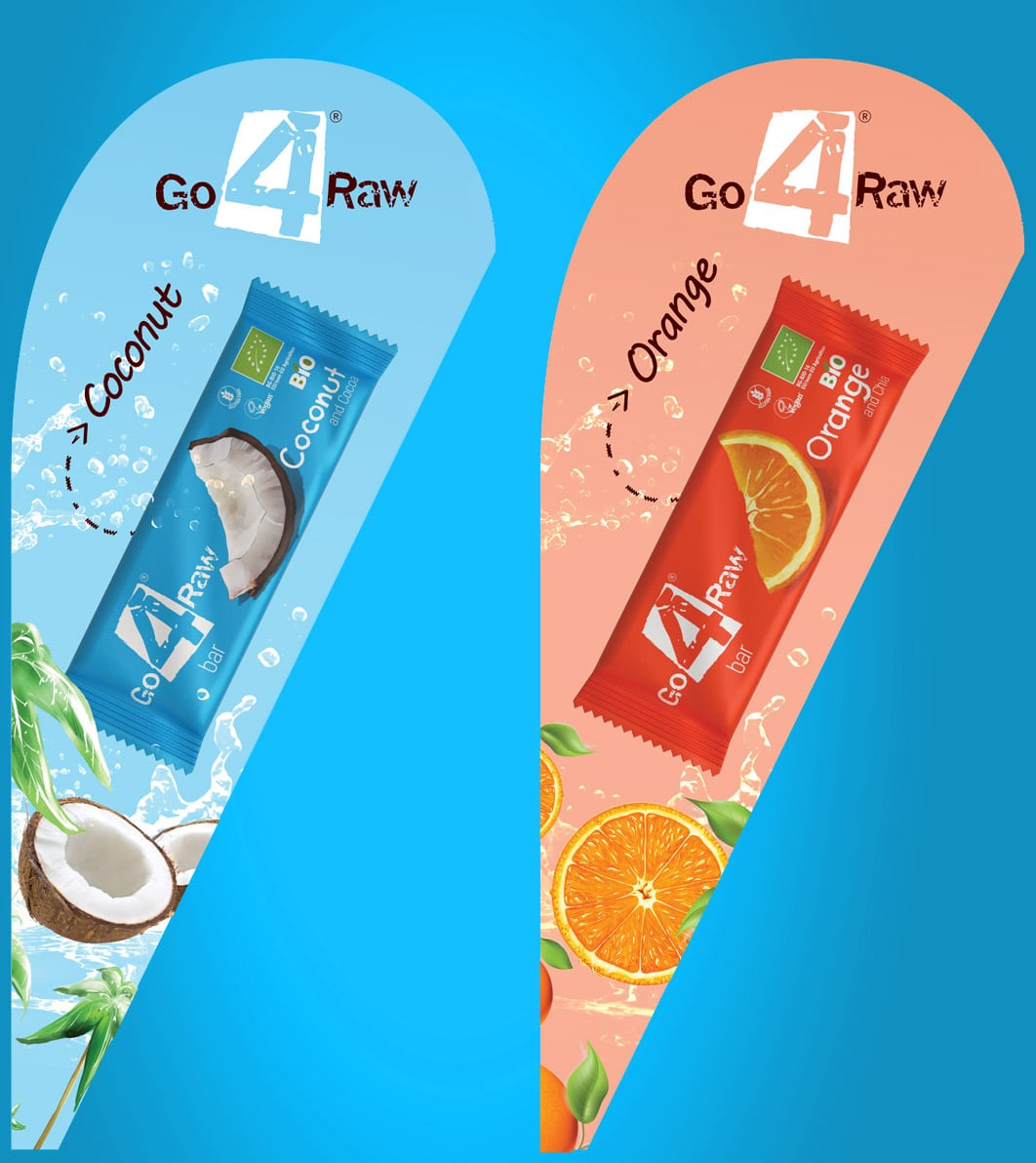 go4raw advertising flags design by AdwayCreative