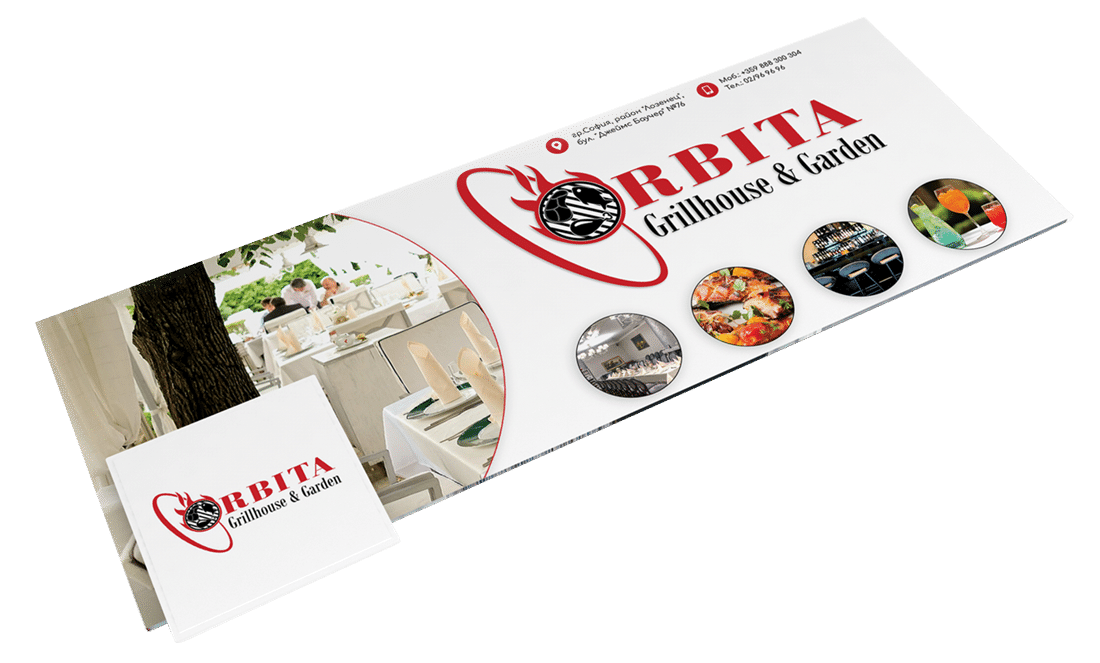 Facebook cover design, restaurant orbita
