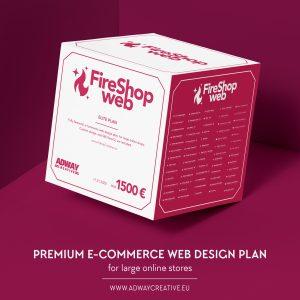 "Premium e-commerce web design plan - ""fireshop"""