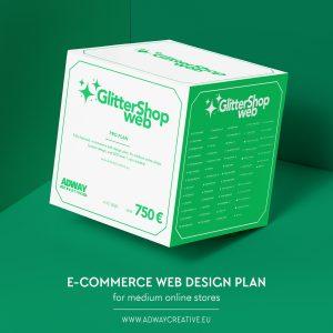"Premium e-commerce web design plan - ""glittershop"""