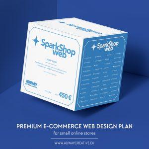 """Premium E-commerce web design plan - """"SparkShop"""""""