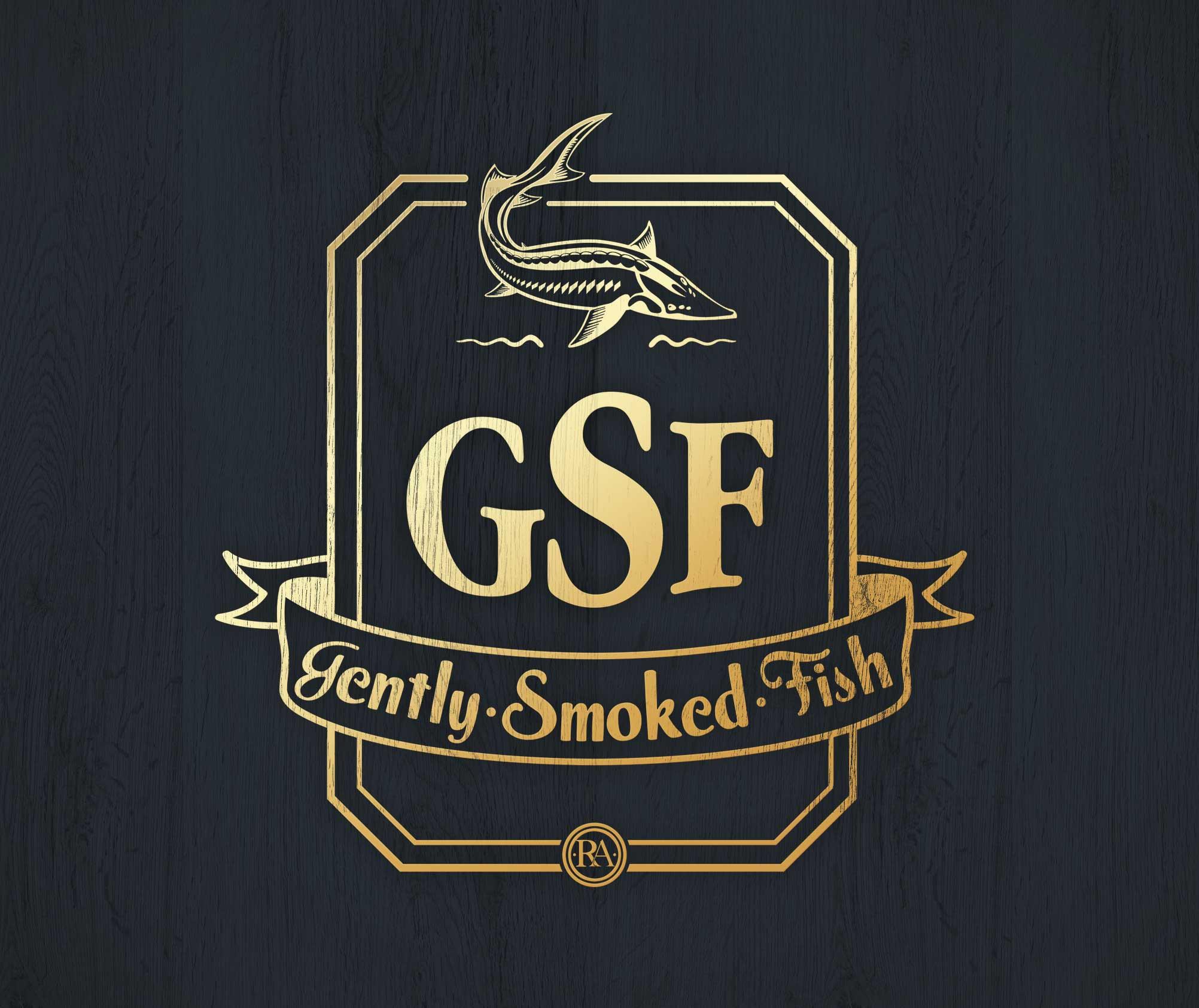 R.A. Seafoods. Logo design. GFS