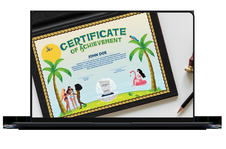Miriam-Swimwear-Affiliate-marketing-certificates-design