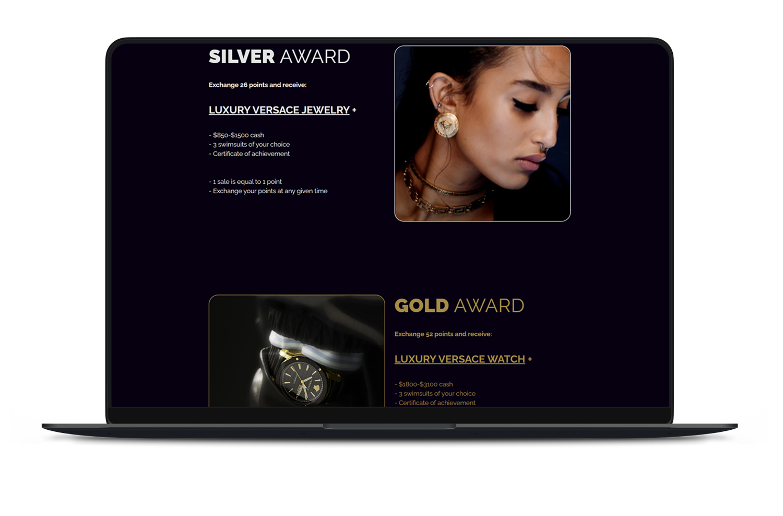 Miriam-Swimwear-Affiliate-marketing-landing-page-awards